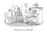 """Is that cute or is that cute"" - New Yorker Cartoon Premium Giclee Print by Edward Frascino"