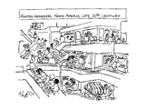 Hunter-Gatherers, North America, Late 20th Century - New Yorker Cartoon Premium Giclee Print by Sidney Harris