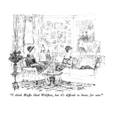 """I think Muffie liked Wellfleet, but it's difficult to know for sure."" - New Yorker Cartoon Premium Giclee Print by Robert Weber"