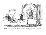 """Ted's been down in the dumps since they started giving greed a bad name."" - New Yorker Cartoon Premium Giclee Print by Robert Weber"
