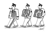 Men walking after general with this extra medals. - New Yorker Cartoon Regular Giclee Print by Tom Cheney