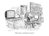 """What rhymes with 'failed marriage'"" - New Yorker Cartoon Premium Giclee Print by Edward Koren"