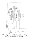 """We could get close with David and Elizabeth if they didn't put Béarnaise …"" - New Yorker Cartoon Premium Giclee Print by Richard Cline"