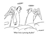"""What I miss is pressing the flesh."" - New Yorker Cartoon Premium Giclee Print by Al Ross"