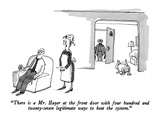 """There is a Mr. Hayer at the front door with four hundred and twenty-seven…"" - New Yorker Cartoon Premium Giclee Print by George Booth"