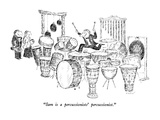 """Sam is a percussionists' percussionist."" - New Yorker Cartoon Premium Giclee Print by Edward Koren"
