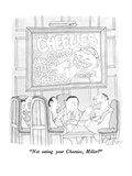 """""""Not eating your Cheezies, Miller"""" - New Yorker Cartoon Giclee Print by Gahan Wilson"""