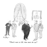 """There's more to S.K. than meets the eye."" - New Yorker Cartoon Giclee Print by James Mulligan"