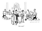 """More salad"" - New Yorker Cartoon Premium Giclee Print by Bill Woodman"