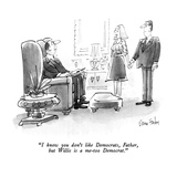"""I know you don't like Democrats, Father, but Willis is a me-too Democrat.…"" - New Yorker Cartoon Regular Giclee Print by Dana Fradon"
