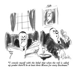 """""""I console myself with the belief that when the roll is called up yonder t…"""" - New Yorker Cartoon Premium Giclee Print by Donald Reilly"""