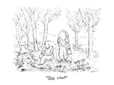 """Now what"" - New Yorker Cartoon Premium Giclee Print by Edward Koren"