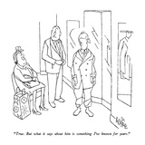 """True.  But what it says about him is something I've known for years."" - New Yorker Cartoon Premium Giclee Print by George Price"