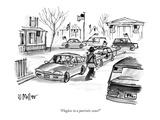 """Flagless in a patriotic zone"" - New Yorker Cartoon Premium Giclee Print by Warren Miller"