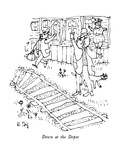 Down at the Depot - New Yorker Cartoon Premium Giclee Print by William Steig