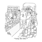 """'Loving Each Other.'"" - New Yorker Cartoon Premium Giclee Print by George Price"