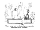 """What's wrong with one hundred per cent attention twenty per cent of the t…"" - New Yorker Cartoon Premium Giclee Print by Richard Cline"