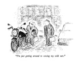 """I'm just getting around to sowing my wild oats."" - New Yorker Cartoon Premium Giclee Print by Edward Koren"