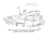 """For my part, I'm proud to be associated with a product such as Harris Twe…"" - New Yorker Cartoon Premium Giclee Print by Al Ross"