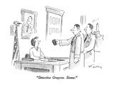 """Detective Grayson.  Sleaze."" - New Yorker Cartoon Premium Giclee Print by Mike Twohy"