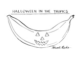 Halloween In The Tropics - New Yorker Cartoon Premium Giclee Print by Stuart Leeds