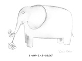 1 - 800 - L - E - PHANT - New Yorker Cartoon Premium Giclee Print by Victoria Roberts