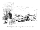 """Bernie's problem is his technique draws attention to itself."" - New Yorker Cartoon Premium Giclee Print by Robert Weber"