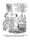 """Cornelia has created a seventy-five-acre animal refuge in the Adirondacks…"" - New Yorker Cartoon Premium Giclee Print by Charles Saxon"