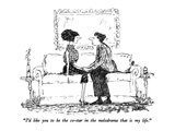 """I'd like you to be the co-star in the melodrama that is my life."" - New Yorker Cartoon Premium Giclee Print by Robert Weber"