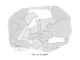 """""""Are you all right"""" - New Yorker Cartoon Giclee Print by Gahan Wilson"""