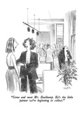"""Come and meet Mr. Haelkamp.  He's the little painter we're beginning to c…"" - New Yorker Cartoon Premium Giclee Print by Charles Saxon"
