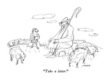 """Take a letter."" - New Yorker Cartoon Premium Giclee Print by Al Ross"