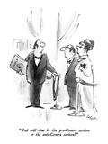 """And will that be the pro-Contra section or the anti-Contra section"" - New Yorker Cartoon Premium Giclee Print by Lee Lorenz"