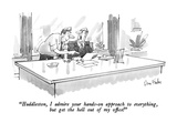 """Huddleston, I admire your hands-on approach to everything, but get the he…"" - New Yorker Cartoon Regular Giclee Print by Dana Fradon"