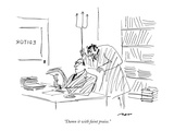 """Damn it with faint praise."" - New Yorker Cartoon Premium Giclee Print by Al Ross"