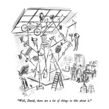 """Well, David, there are a lot of things to like about it."" - New Yorker Cartoon Regular Giclee Print by Everett Opie"