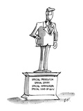 "Statue of man with title, ""Special Prosecutor, Special Envoy, Special Amab…"" - New Yorker Cartoon Premium Giclee Print by Dana Fradon"