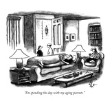 """I'm spending the day with my aging parents."" - New Yorker Cartoon Premium Giclee Print by Frank Cotham"