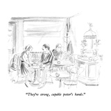 """They're strong, capable potter's hands."" - New Yorker Cartoon Regular Giclee Print by Everett Opie"
