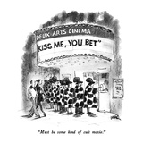 """Must be some kind of cult movie."" - New Yorker Cartoon Premium Giclee Print by Robert Weber"