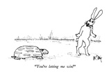 """You're letting me win!"" - New Yorker Cartoon Premium Giclee Print by William Steig"