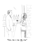 """Gaye, sing a song.  My song."" - New Yorker Cartoon Premium Giclee Print by Richard Cline"