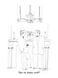 """Does the fireplace work"" - New Yorker Cartoon Premium Giclee Print by Richard Cline"