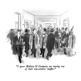 """I guess Mallory & Company are having one of their top-echelon shuffles."" - New Yorker Cartoon Regular Giclee Print by Stan Hunt"