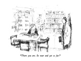 """There you are.  So near and yet so far."" - New Yorker Cartoon Premium Giclee Print by Robert Weber"