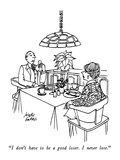 """I don't have to be a good loser.  I never lose."" - New Yorker Cartoon Premium Giclee Print by Joseph Farris"