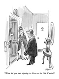 """When did you start referring to Nixon as the Old Warrior"" - New Yorker Cartoon Premium Giclee Print by Lee Lorenz"