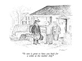 """It sure is great to have you back for a while at the mother ship."" - New Yorker Cartoon Premium Giclee Print by Edward Koren"