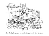 """Sam Wooley here, trying to snatch victory from the jaws of defeat."" - New Yorker Cartoon Premium Giclee Print by Joseph Mirachi"