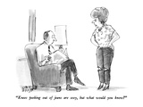 """Knees peeking out of jeans are sexy, but what would you know"" - New Yorker Cartoon Premium Giclee Print by Warren Miller"